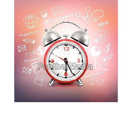 realistic clock business strategy composition with
