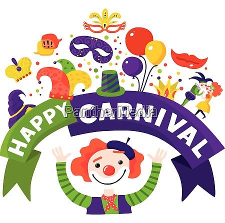 mardi gras traditional carnival celebration invitation