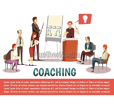 business coaching with lecturer speaking from