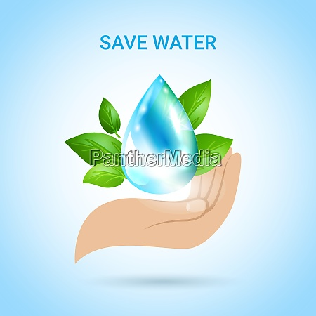 save water background in realistic style