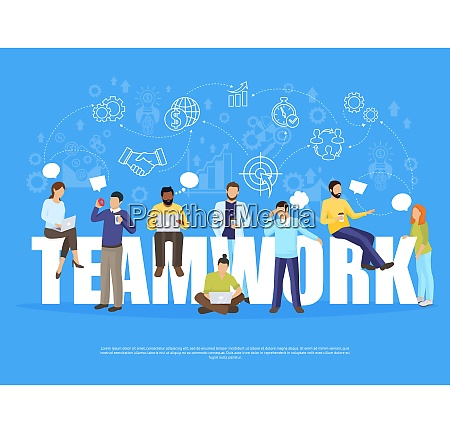 teamwork concept with coworking and office