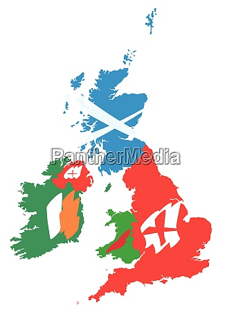 united kingdom flags map 3