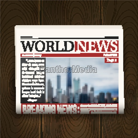 newspaper front page design poster with