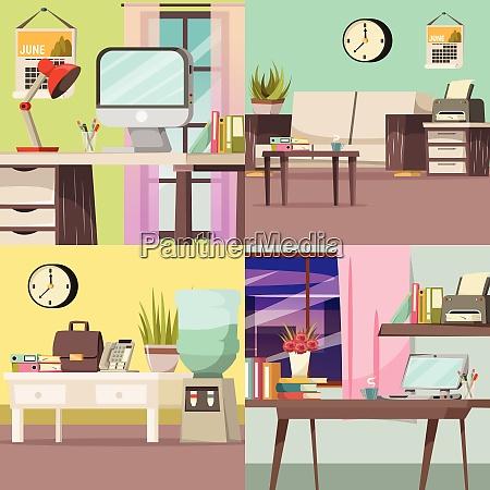 four squares office orthogonal concept set