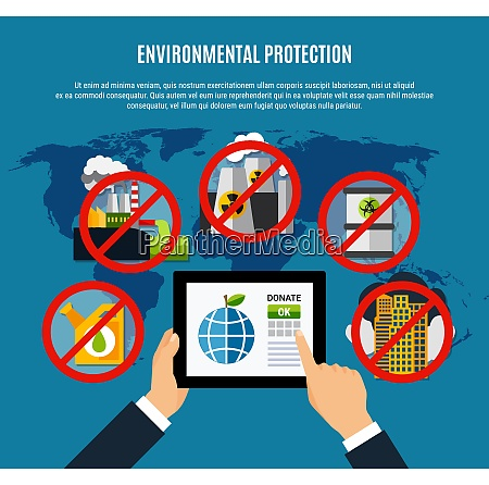 environmental protection concept with clean planet