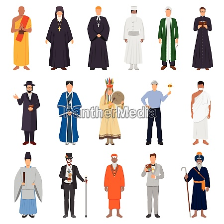 set of people in traditional costume