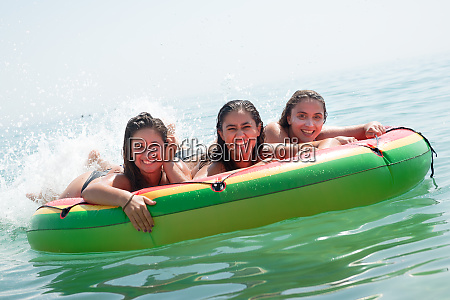 girls having fun in the water