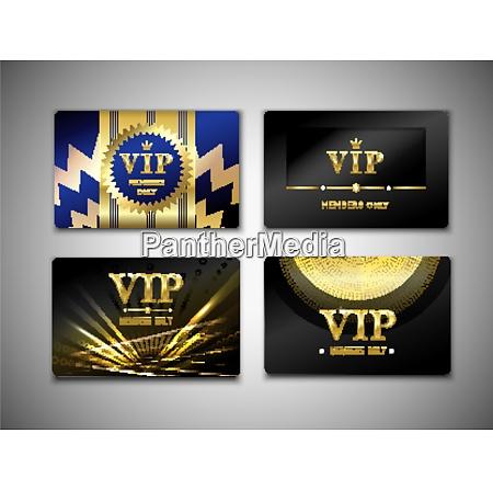 vip cards design template on black