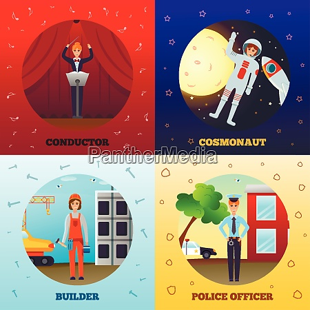 woman professions design concept with conductor