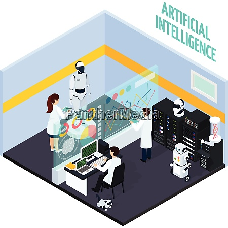 artificial intelligence concept with repair and