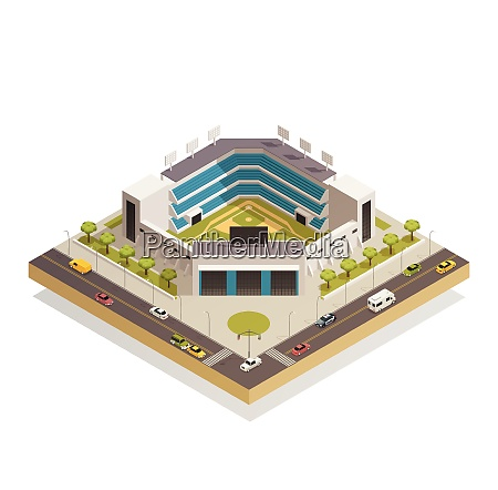 classic baseball ballpark play area with