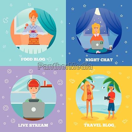 bloggers characters popular topics 4 flat