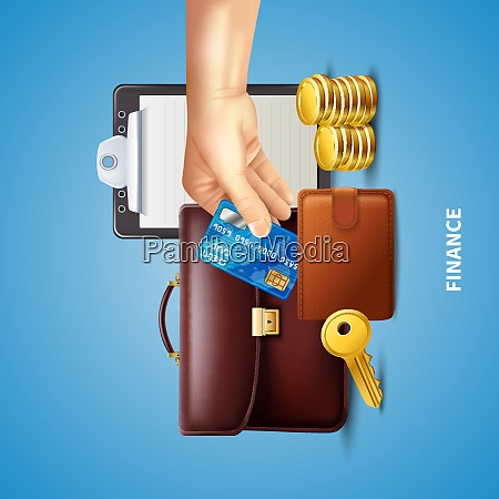 business finance realistic concept with wallet