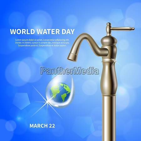world water day advertising blue poster