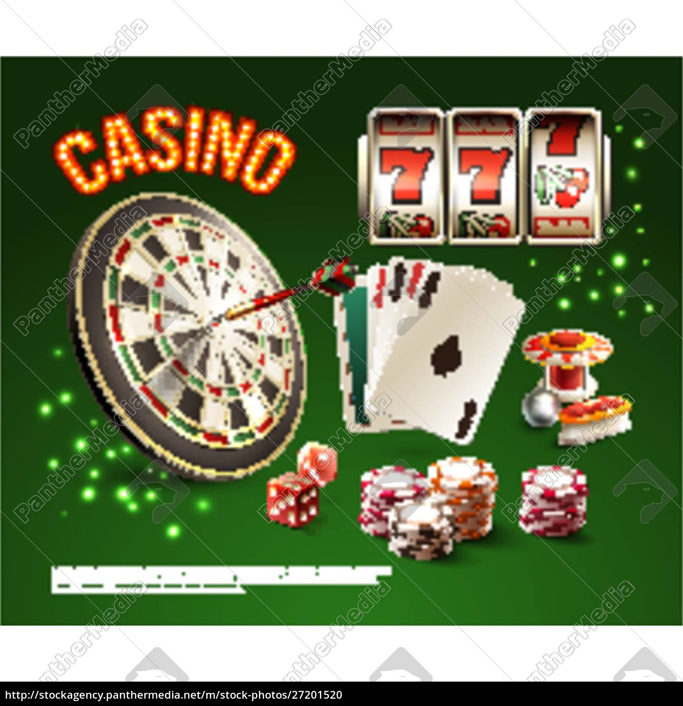 games, realistic, stylish, composition, with, casino - 27201520