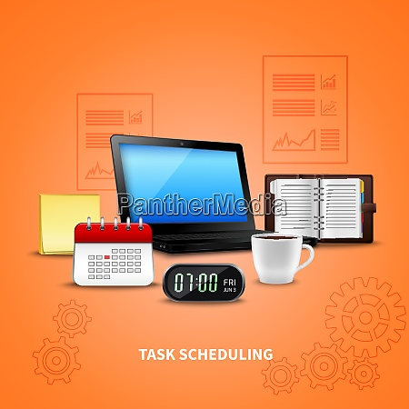 orange, time, management, realistic, with, task - 27201549