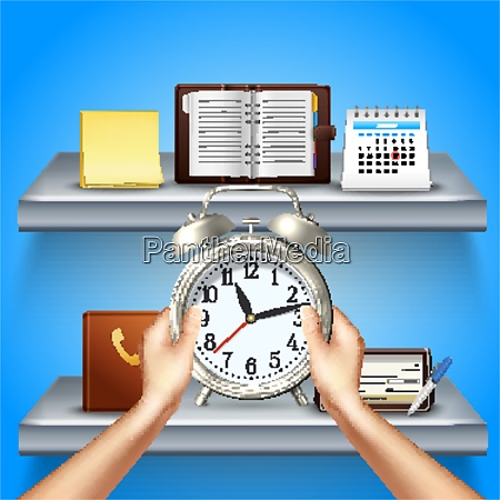 time, management, realistic, 3d, composition, with - 27201546