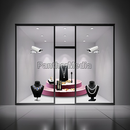 two, surveillance, cameras, in, jewellery, shop - 27201535