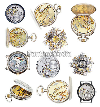 collection of vintage wathes and clock