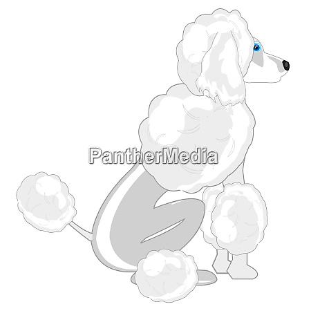 vector illustration of the sitting dog