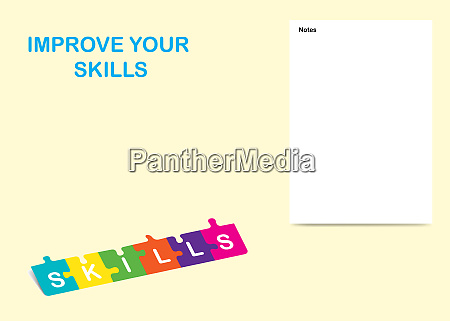 improve your skills template vector illustration