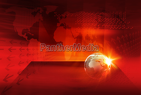 graphical digital world news background concept