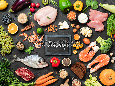 fodmap diet concept top view or