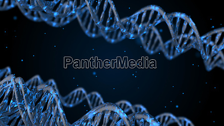 dna abstract 3d polygonal wireframe dna
