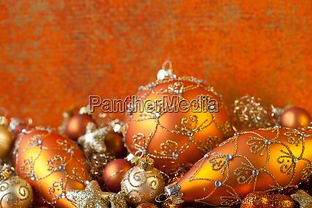 elegant christmas ornament still life
