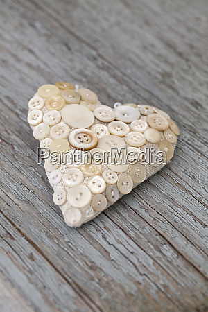 nostalgic heart made of vintage buttons