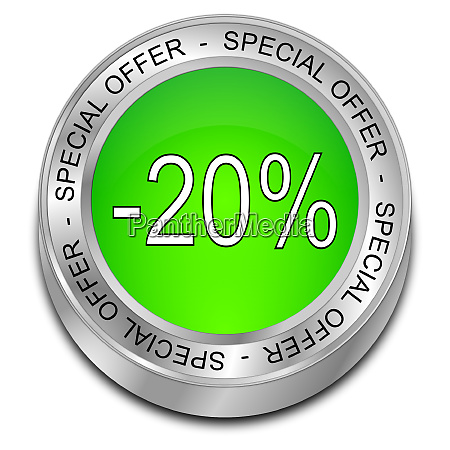 green special offer 20 discount button