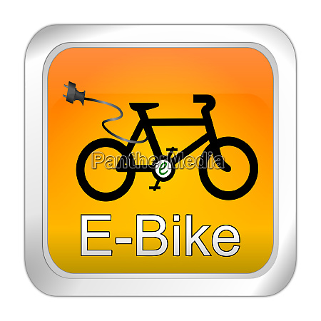orange e bike button 3d