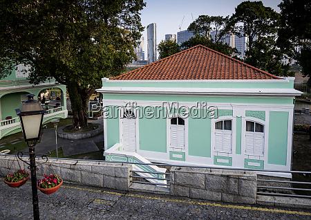 portuguese colonial heritage landmark building in