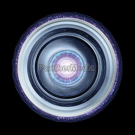 futuristic ufo or spaceship isolated on