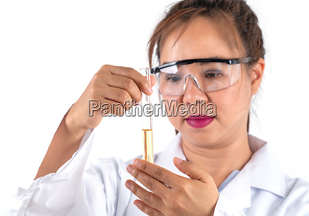 woman scientific research looking solution