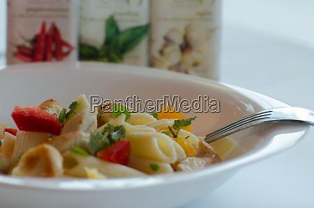 italien pasta with chicken
