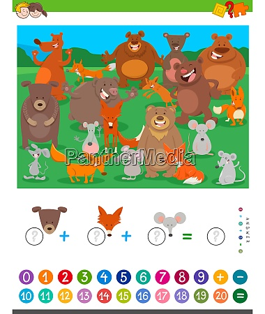 counting, and, adding, game, with, cartoon - 27213258