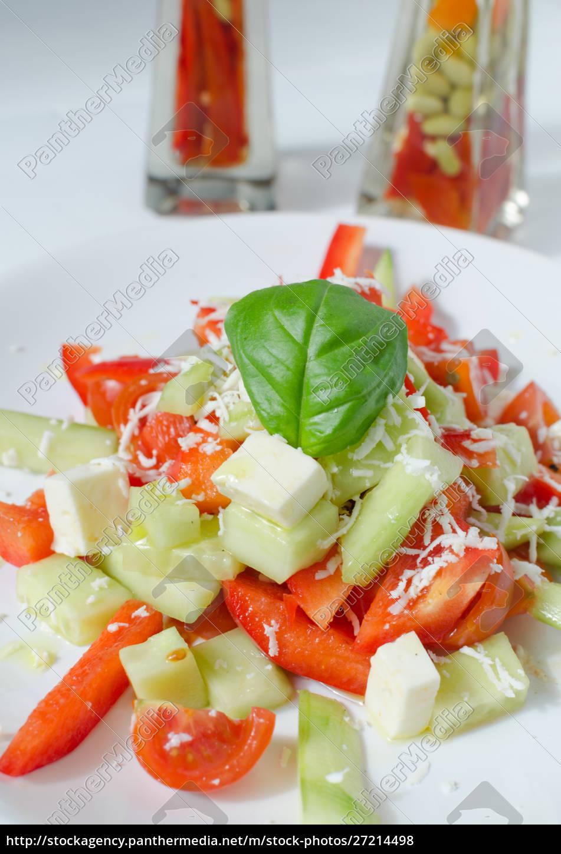 fresh, salad, with, feta, cheese - 27214498