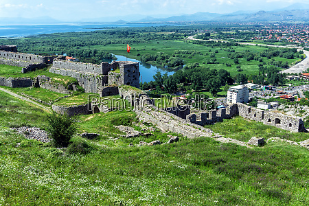 rozafa castle with the cityview in