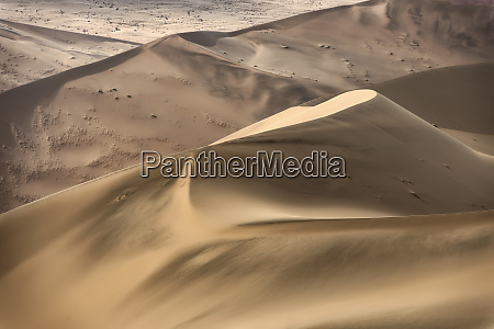 colorful sand dunes in the namib