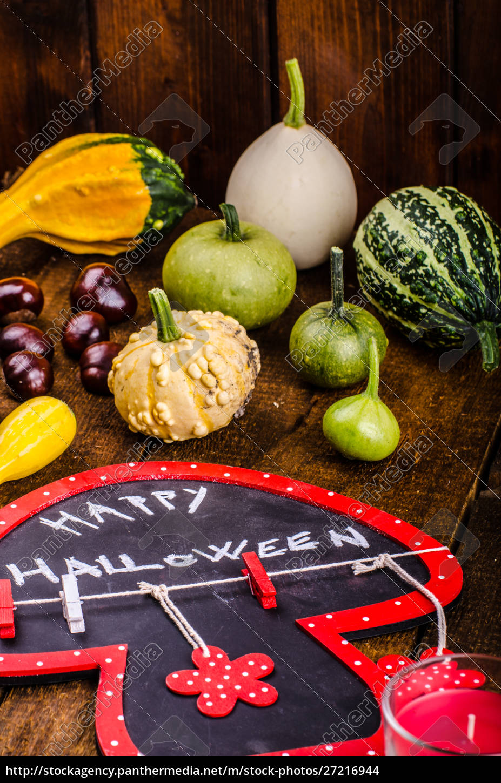 halloween, still, life, of, pumpkins, , inscription, - 27216944