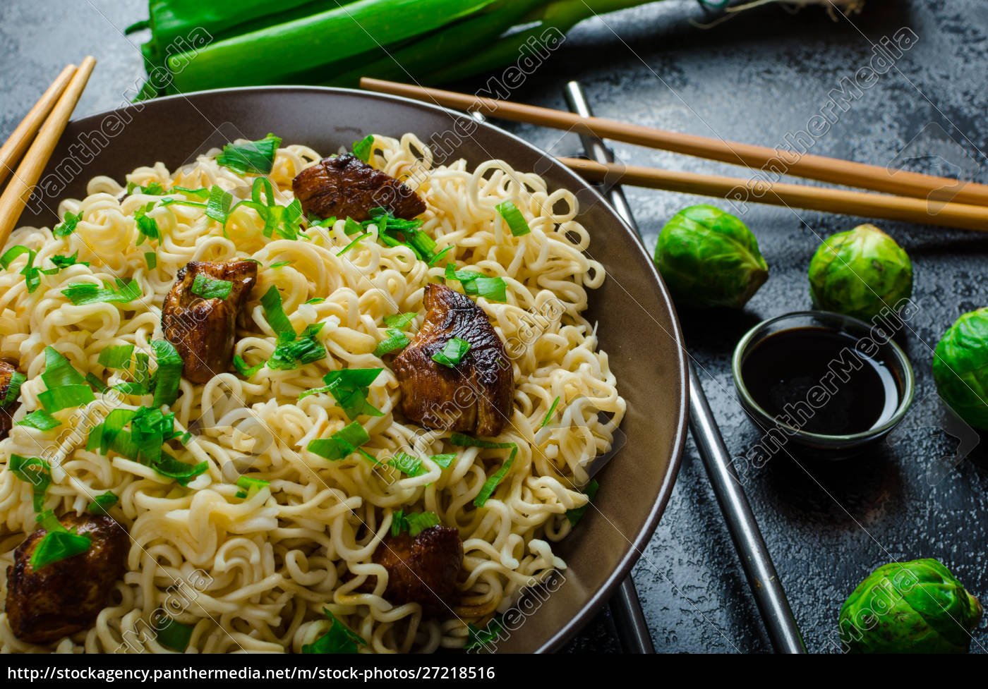 asian, chicken, noodles, salad - 27218516