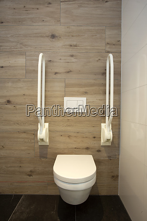 inside disable toilet toilet with grab