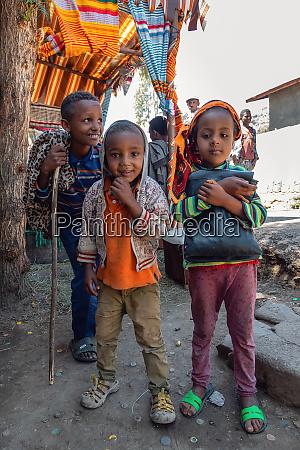 group of ethiopian children