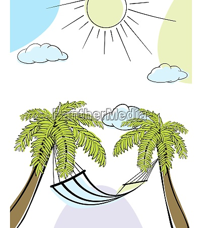 summer time doodle card