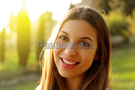 beautiful woman with a whiten perfect