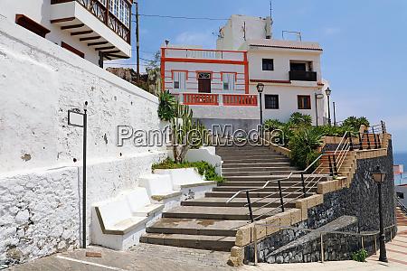 candelaria cozy village in tenerife stairway