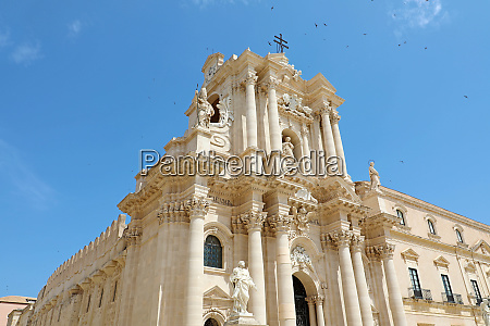 the cathedral of syracuse in siciliy
