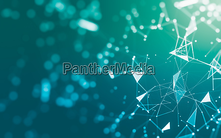 abstract background molecules technology with polygonal