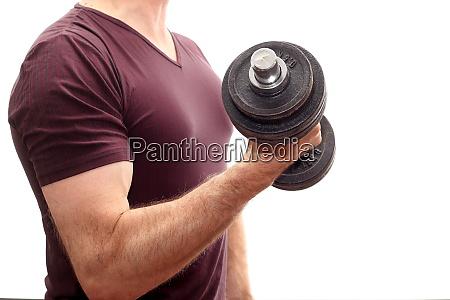 sports man is training